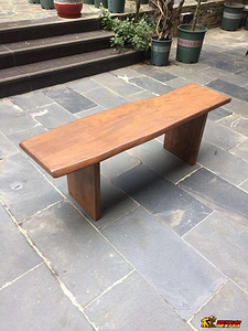东北老榆木独板随形喝茶条凳制作过程—有图纸