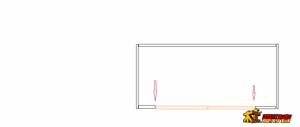 请教如图所示浴室柜箭头所指处应该装何种铰链能保证门板开到90度以上