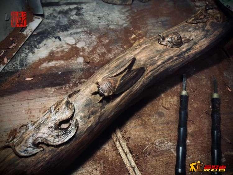 【影木守藝】志強原創雕刻作品《同歸》海南黃花梨藝術擺件