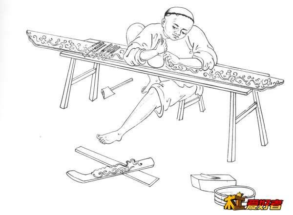 西方传统木匠,也要用传统的工具,比如长板凳